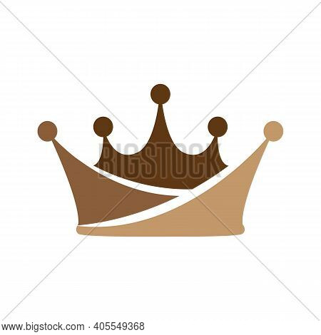 Crown Icon Vector For Element Design. Crown Icon Isolated On Black Background. Crown Icon Simple Sig
