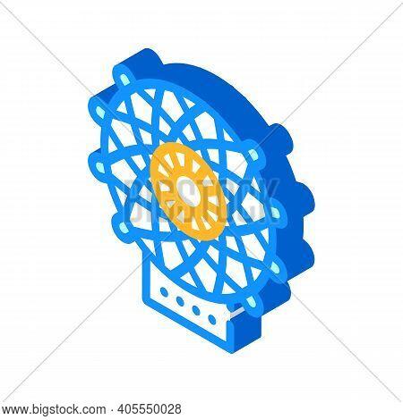Carbon Fiber Weaving Loom Isometric Icon Vector Illustration