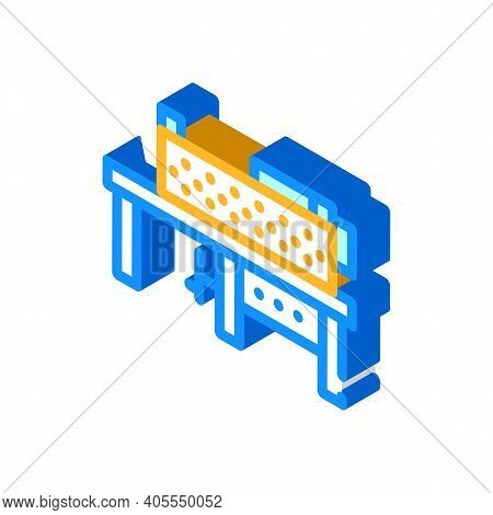 Grinding Machine Isometric Icon Vector Illustration Color