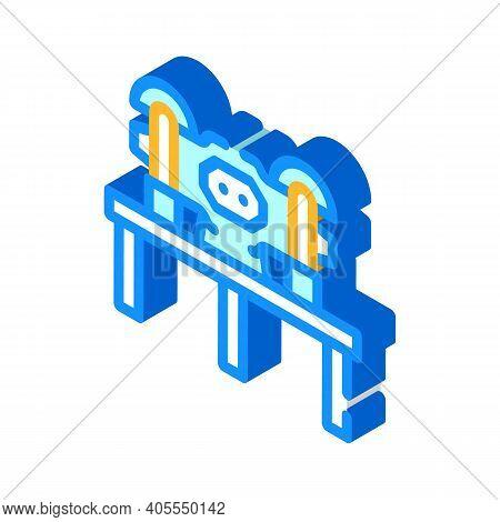 Grinding Industry Machine Isometric Icon Vector Illustration