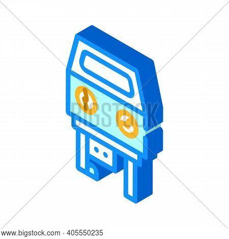 Sandblasting Chamber Isometric Icon Vector Illustration Color