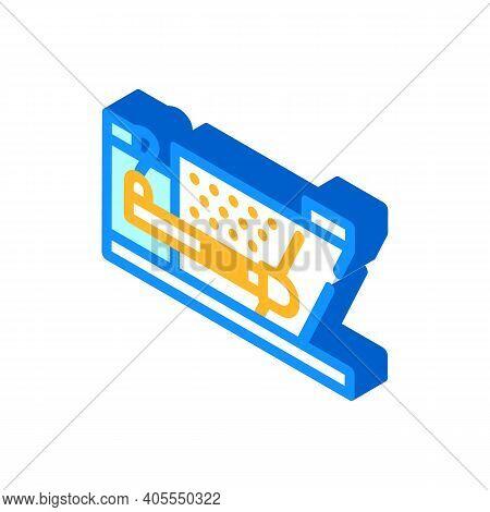 Press For Briquettes Isometric Icon Vector Illustration