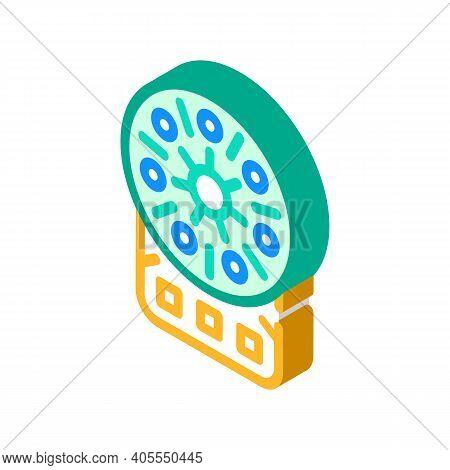 Centrifuge Laboratory Equipment Isometric Icon Vector Illustration