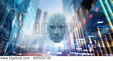 Virtual reality and artificial intelligence concept