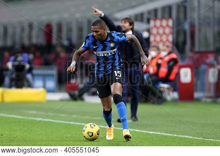 Milano, Italy. 26th January 2021 . Ashley Young Of Fc Internazionale  During The Coppa Italia Match