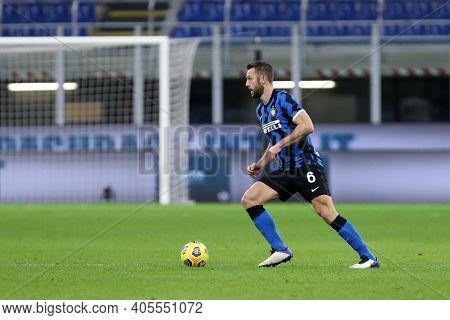 Milano, Italy. 26th January 2021 . Stefan De Vrij Of Fc Internazionale  During The Coppa Italia Matc
