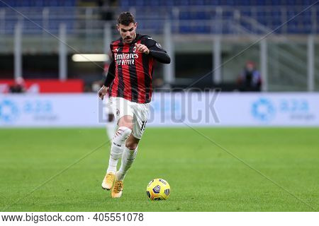 Milano, Italy. 26th January 2021 . Theo Hernandez Of Ac Milan  During The Coppa Italia Match Between