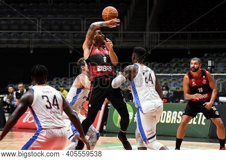 Rio, Brazil - January 28, 2021  Chuzito Of Flamengo Battles With Paranhos Of Unifacisa During The Me