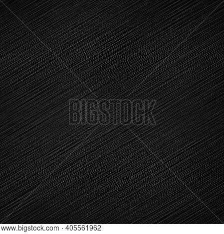 Black Metal Texture Or Background. Vector Illustration
