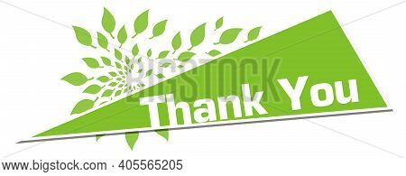 Thank You Text Written Over Green Background.