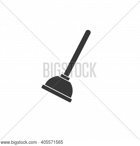 Plunger Icon, Vector Illustration. Flat Design Style. Vector Plunger Icon Illustration Isolated