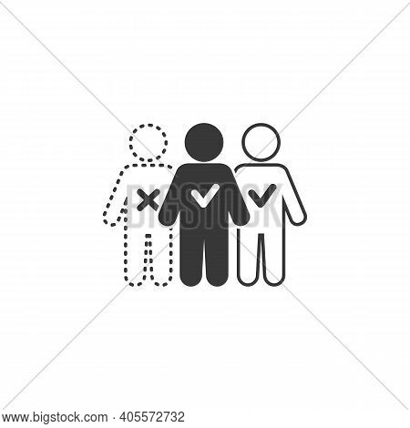 Absent Vector Illustration Can Be Used For Topics Attendance, Absent, Meeting Icon