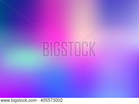 Pale Blue Background. Light Blur Backdrop. Delicate Pattern. Abstract Sky. Vector Holographic Textur