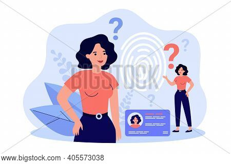 Personal Id And Biometric Access Control. Person Using Identity Office Badge And Fingerprint Scanner