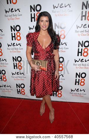 LOS ANGELES - DEC 12:  Gina La Piana arrives to the NOH8 4th Anniversary Party at Avalon on December 12, 2012 in Los Angeles, CA