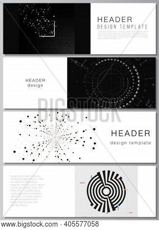 Vector Layout Of Headers, Banner Templates For Website Footer Design, Horizontal Flyer Design, Websi