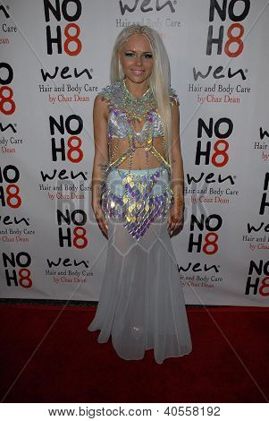 LOS ANGELES - DEC 12:  Kerli arrives to the NOH8 4th Anniversary Party at Avalon on December 12, 2012 in Los Angeles, CA