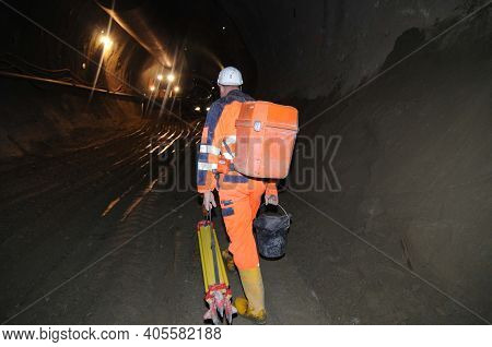 A Railway Tunnel Construction Site