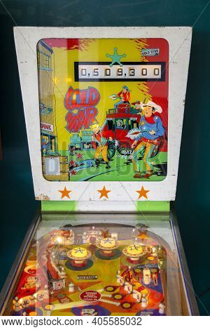 Margate, Kent, Uk - August 28, 2017. Pinball Machine At The Iconic Dreamland At Margate, Featuring H