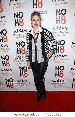 LOS ANGELES - DEC 12:  Erica Chase arrives to the NOH8 4th Anniversary Party at Avalon on December 12, 2012 in Los Angeles, CA