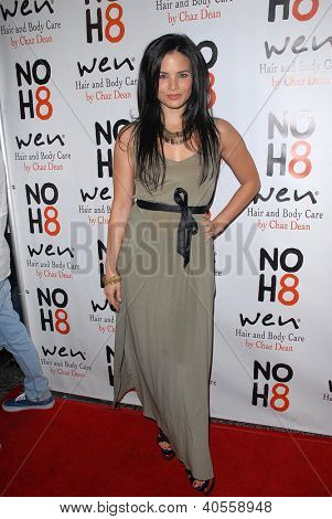 LOS ANGELES - DEC 12:  Katrina Law arrives to the NOH8 4th Anniversary Party at Avalon on December 12, 2012 in Los Angeles, CA