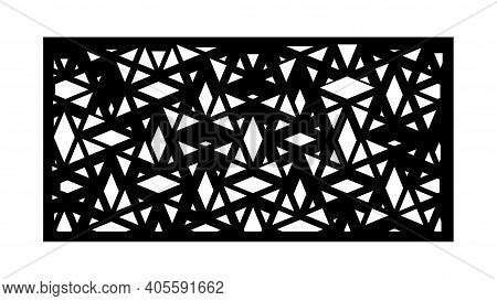 Abstract Panel, Screen, Wall. Decorative Vector Screen For Laser Cutting. Template For Interior Part