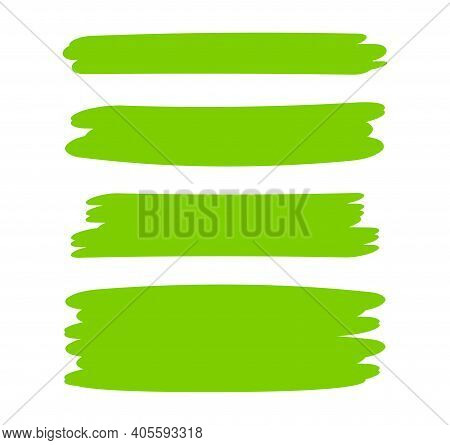 Green Bright Stripes Brush Paint For Scribble Marker, Brushstroke Painting Green Pastel Soft Color,