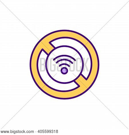No Internet Access Rgb Color Icon. Wifi Connectivity Issue. Coping With Unstable Network Access. Wir