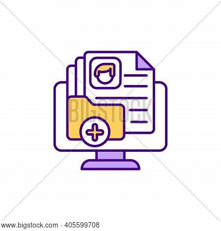 Customer Base Rgb Color Icon. Building Client List. Contact Management. Main Revenue Source. Targeti
