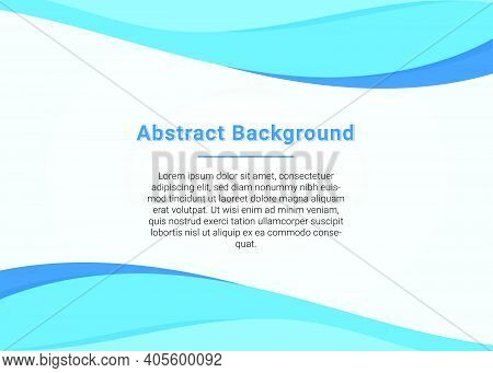 Stylish Business Blue Wave Presentation Background Stylish Design