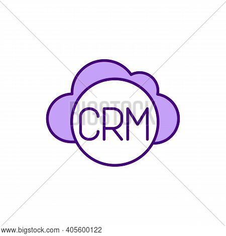 Customer Relationship Management Rgb Color Icon. Crm System. Business Relationships Improvement. Man