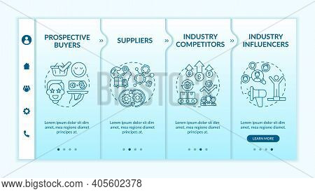 Collaborative Creation Participants Onboarding Vector Template. Suppliers. Industry Influencers, Riv