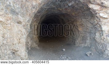 An Entrance To An Abandoned Deep Mine Where Ore Was Previously Mined.