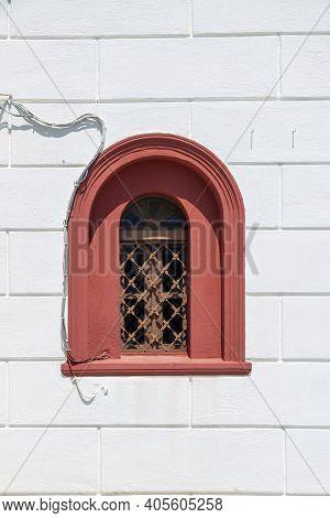 Arched Window Of Church, Skiathos Town, Greece