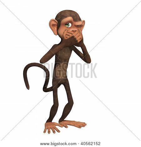 Speak No Evil - One of Three Wise Monkeys poster