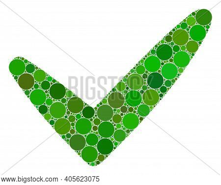 Yes Raster Mosaic Of Dots In Different Sizes And Color Tinges. Round Dots Are Grouped Into Yes Raste
