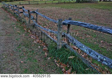 Split Rail Fence Surrounds Jamestown Colony