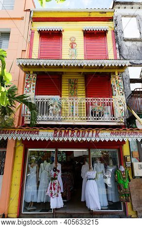 Fort De France, Martinique Island-december 22, 2020 : Souvenir And Gift Shop Bamboutik Located In Th