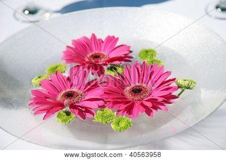 Floral Centerpiece at Wedding Reception