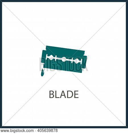 Blade Razor Isolated Vector Icon. Razor Design Element
