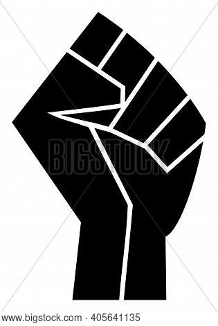 Fist Icon With Flat Style On A White Background. Isolated Vector Fist Icon Image, Simple Style.