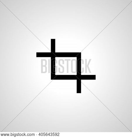 Crop Vector Icon, Crop Simple Isolated Icon