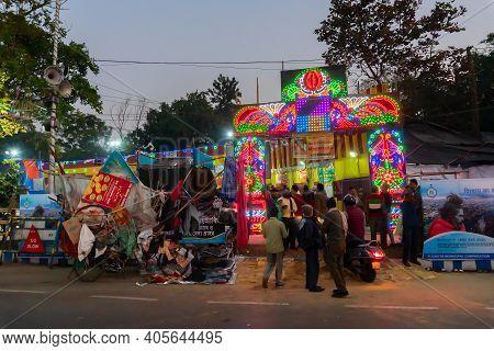 Kolkata, West Bengal, India - 12th January 2020 : The Gateway Of Gangasagar Transit Camp At Babughat
