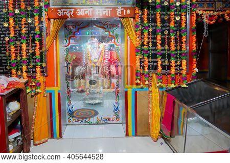 Jaisalmer, Rajasthan, India - 15th October 2019 : Goddess Tanot At Tanot Mata Mandir At India Pakist