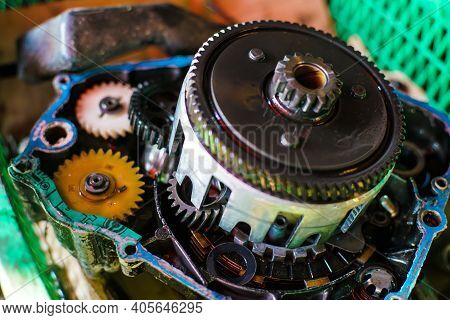 Repairing Motorcycle Machine Part Of Motorcycle Engine Overhaul