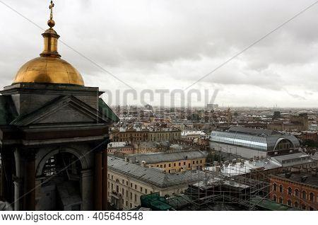 Saint Petersburg, Russia - June 26 2007: A Belfry Of Saint Isaacs Cathedral (or Isaakievskiy Sobor),