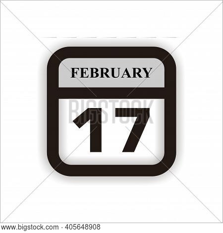Calendar Icon 17 Isolated On White Background, Calendar Icon Vector Flat Modern, Calendar Icon, Cale