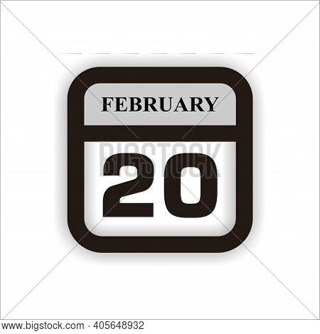 Calendar Icon 20 Isolated On White Background, Calendar Icon Vector Flat Modern, Calendar Icon, Cale