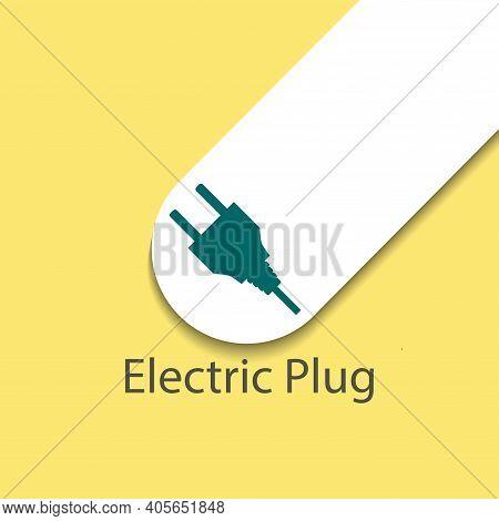 Plug Vector Icon, Electric Plug Simple Isolated Icon