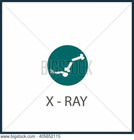 Foot X-ray Vector Icon, X-ray Simple Isolated Icon